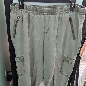 Lane Bryant Drab Green Jogger pants, Sz. 18/20 EUC